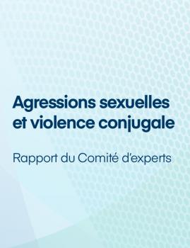 Agressions sexuelles et violence conjugale – Rapport du Comité d'experts