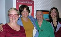 Photographie de Mmes Bazinet, Miville-Dechêne, Ducharme et Vallée.