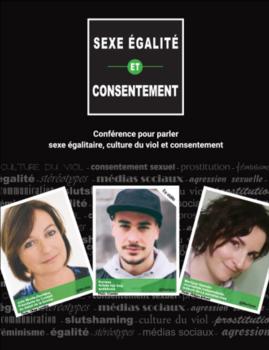 Affiche du thème Sexe égalité et consentement.