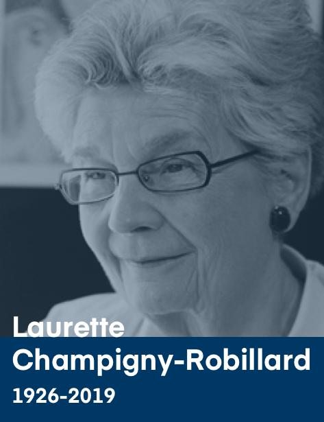 Photographie de Laurette Champigny-Robillard.