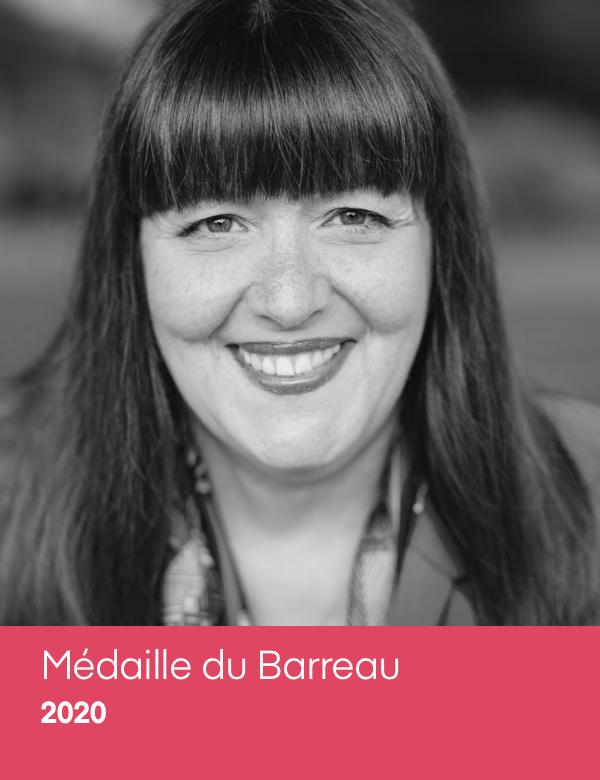 Louise Cordeau Médaille du Barreau 2020.