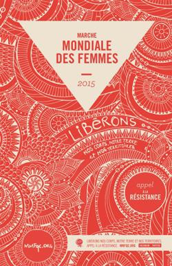 Affiche de la Marche mondiale des femmes - 2015.