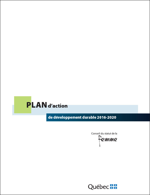Illustration de la page couverture du plan d'action.