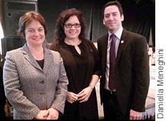Julie Miville-Dechêne, Caroline Simard, et Patrick Huot.